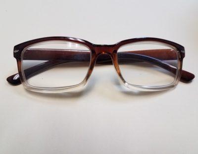 500x Brown Frame Hobbyist Magnifying Eyeglasses